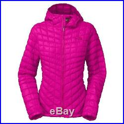 The North Face Hot Pink Thermoball Quilted Hoodie Jacket Coat Large L NWT