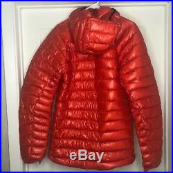 The North Face L3 Proprius Hoodie Insulated 800 Down Jacket Mens Small Fiery Red
