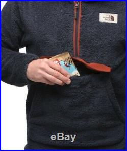 The North Face Men Campshire Sherpa 300 Fleece Hoodie Pullover Medium Navy BNWT