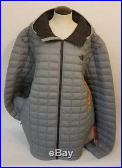 The North Face Men's 2XL Thermoball Hoodie Jacket Puffer Gray Matte