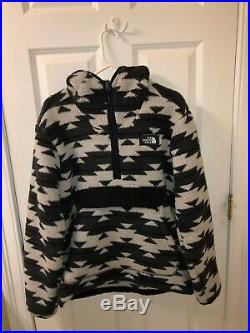 The North Face Men's Campshire Pullover Hoodie Grey California Basket Print Med
