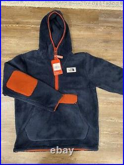 The North Face Men's Campshire Pullover Hoodie Sherpa Navy TNF Sz L Large NWT