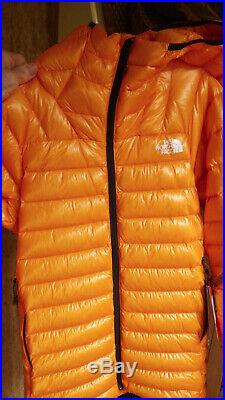 The North Face Men's Summit L3 Down Hoodie Knockout Orange, 2020 Mint, Men's/Med