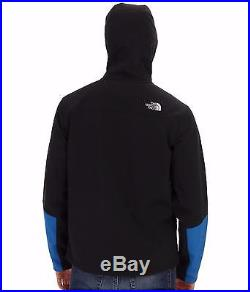 The North Face Mens Apex Bionic Jacket Hoodie Softshell Hooded Coat Blue Sz XXL