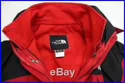 The North Face Mens Red Gore-Tex 2-in-1 Full Zip Snow Hoodie Jacket Sz XL