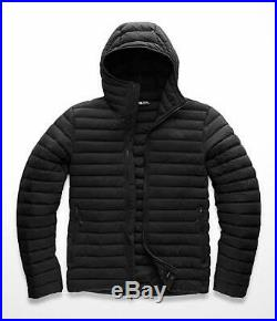 The North Face Mens Stretch Down Hoody Jacket TNF Black Size M NWT