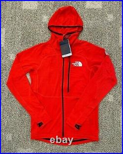 The North Face Mens Summit L2 Power Grid Lightweight Hoodie Fiery Red Size S