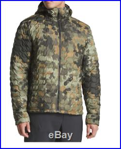 The North Face Mens Thermoball Green Macrofleck Camo Hoodie Jacket Sz M L XL XXL