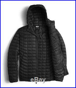 The North Face Mens Thermoball Hooded Jacket Insulated Hoodie Black Size S New