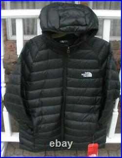 The North Face Mens Trevail Hoodie 800 Fill Down Jacket -coat-a33pc- Black- L, XL