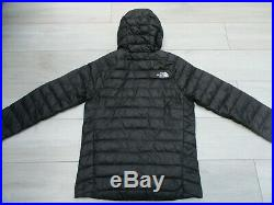 The North Face Mens Trevail Packable Hoodie Goose Down 800 Fill S Black Nuptse