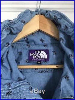 The North Face Purple Label Chambray Blue Batik Anorak Hoodie Medium Nanamica