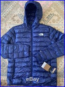 The North Face Sierra Peak 800-Fill Down Hoodie Jacket Men's Large $279.00 Blue