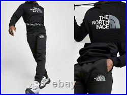 The North Face Simple Dome Black Mens Full Sports Tracksuit Hoodie Pants SMLXL