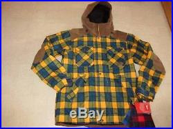 The North Face Steeps Plaid Hoodie Jacket for Men Multicolor Sz M NWT $249