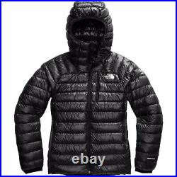 The North Face Summit Series Down Hoodie Jacket Black Medium Mens Free Shipping