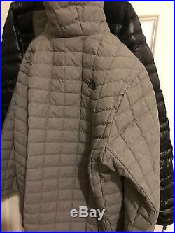 The North Face ThermoBall PrimaLoft Hoodie Jacket Mens M NWT Fusebox Gray Grey