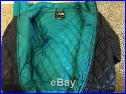 The North Face Thermoball Hoodie Parka- Navy & Teal- Womens Size Medium- New