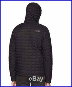 The North Face Thermoball Puffer Quilted Jacket Hoodie Men M tnf Matte Black