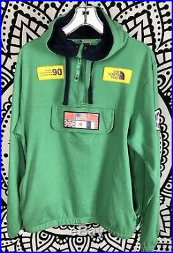 The North Face Trans Antarctica Expedition 1990 Hoodie Vintage Size Medium Green