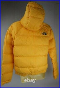 The North Face Woman's Hyalite Down Hoodie Jacket Puffer Yellow Size Small