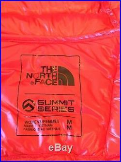 The North Face Women's Summit L3 Down Hoodie Fiery Red/TNF Black Medium NEW 800