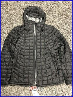 The North Face Women's THERMOBALL Hoodie Jacket Black Matte Large