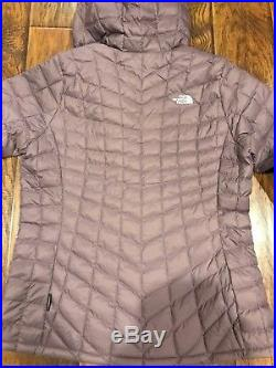 The North Face Women's Thermoball Hoodie Black Plum Jacket Coat Size Xl NEW