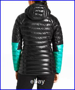The North Face Women's XS Summit L3 Down Hoodie Insulated Black Blue Jacket NEW
