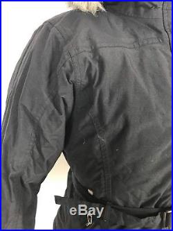 The North Face Womens Faux Fur Hooded 550 Down Parka Jacket Coat Medium M Black