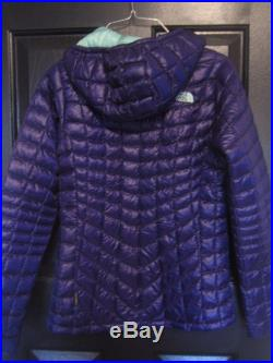 The North Face Womens Thermoball Garnet Purple Hoodie Jacket Sz. Xs $220
