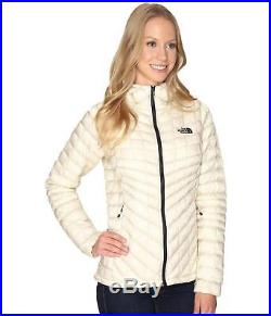 THE NORTH FACE WOMENS THERMOBALL JACKET HOODIE INSULATED HOODED VINTAGE WHITE L