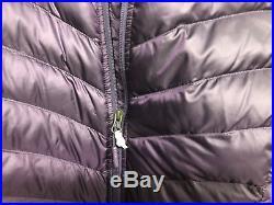 The North Face Womens Trevail parka Coat TNF hoodie dark purple Size Medium