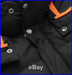 The North Face X Junya Watanabe Comme Des Garcons Down Hoodie Jacket Sz L Black