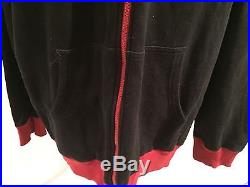 VTG 1990 90s The North Face Trans-Antarctica Expedition Black Zip Hoodie Jacket