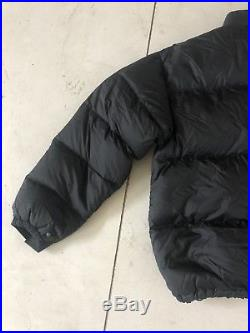 VTG Mens The North Face Jacket Coat XXL 700 Down Fill Black Hoodie Puffer 1990