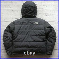Vintage 90s North Face Baffin Baltoro Puffer Down Jacket Puffy Black Hoodie