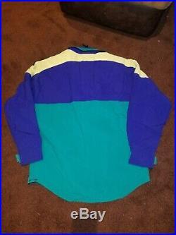 Vintage 90s The North Face Vertical Gore Tex Ski Jacket Coat Snowboard Neon