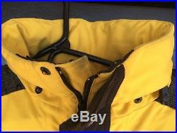 Vintage THE NORTH FACE Supreme Steep Tech Jacket MENS MEDIUM Yellow Coat Hoodie