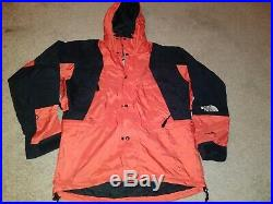 Vtg The North Face Goretex Jacket Hoodie Windbreaker M Men Black Orange 90s