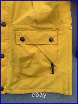 Vtg The North Face Goretex Yellow Mountain Guide Ski Parka Jacket Men's M Coat