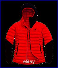 Women's The North Face Fiery Red Summit Series L3 800 Down Hoodie Jacket New