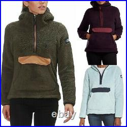 Womens The North Face Jacket Campshire Pullover Sherpa Fleece Soft Hoodie XS M L