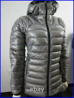 Womens The North Face TNF Summit L3 800-Down Pro Hoodie Insulated Jacket Grey