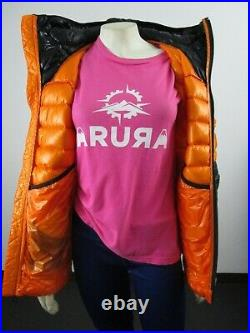 Womens The North Face TNF Summit L3 800-Down Pro Hoodie Insulated Jacket Orange