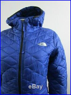 Womens The North Face Thermoball ECO Hoodie Puffer Hooded Insulated Jacket Blue